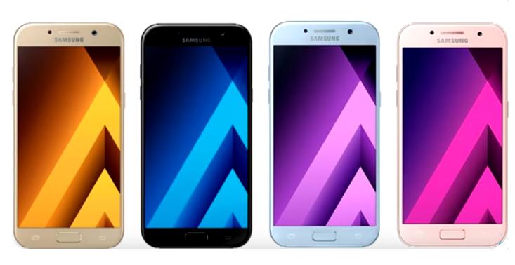 Различные модели смартфона А5 (2017)