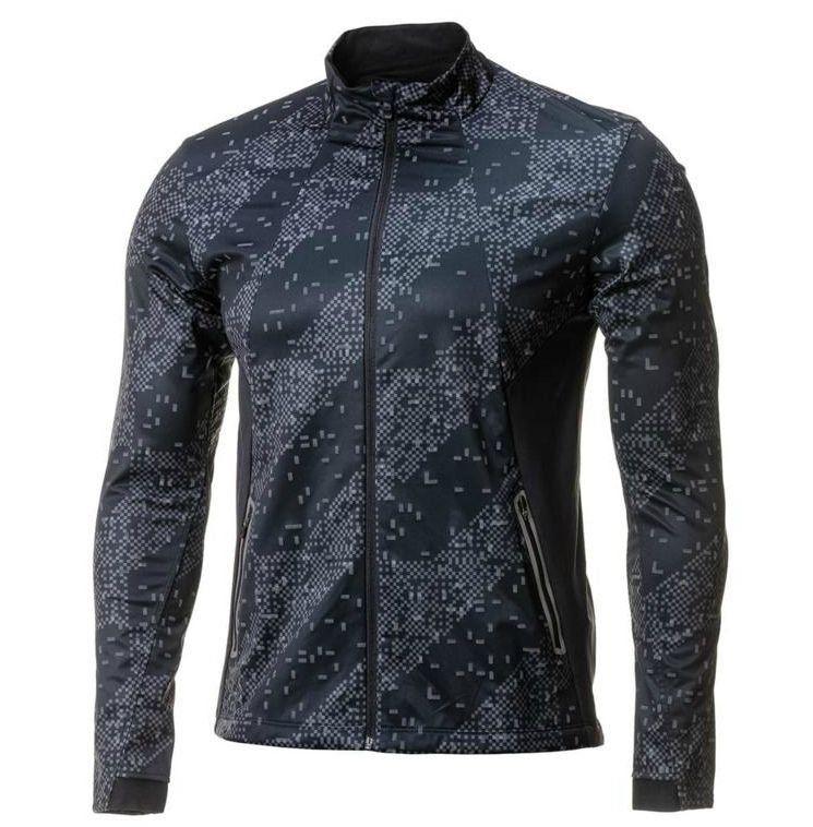 20eccd32 Цена 5340 руб. Стильная беговая куртка с воротником стойкой на флисовой  подкладке. Ветровка выполнена из влагоотводящего дышащего материала,  который отлично ...