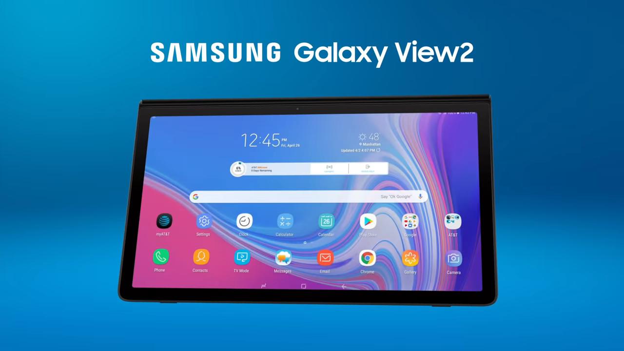 Обзор планшета Samsung Galaxy View 2 — достоинства и недостатки