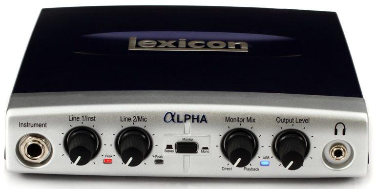 как подключить к компьютеру Lexicon Alpha